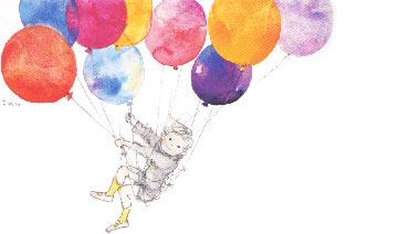 子どもと風船イメージ図